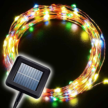 Festival party DIY decoration 10m 100 LEDS Solar Powered String Lights 2Modes Steady On/Flash Lighting