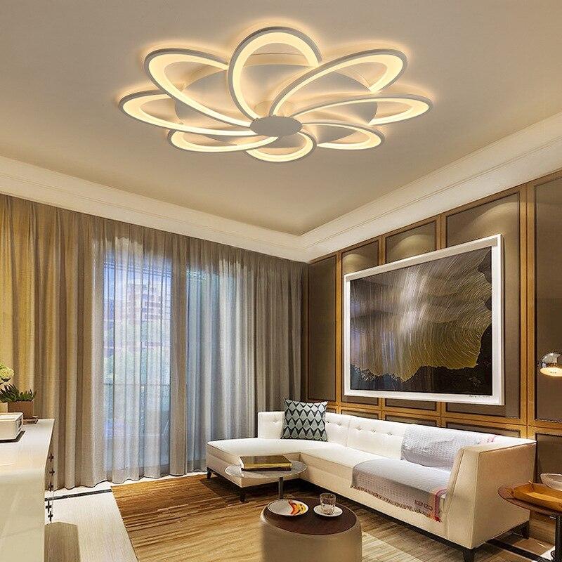 Postmodern Simple Led Roof Lighting Flower Creative Bedroom Living Room Lamp Home Roof Lighting Ceiling Lights Aliexpress
