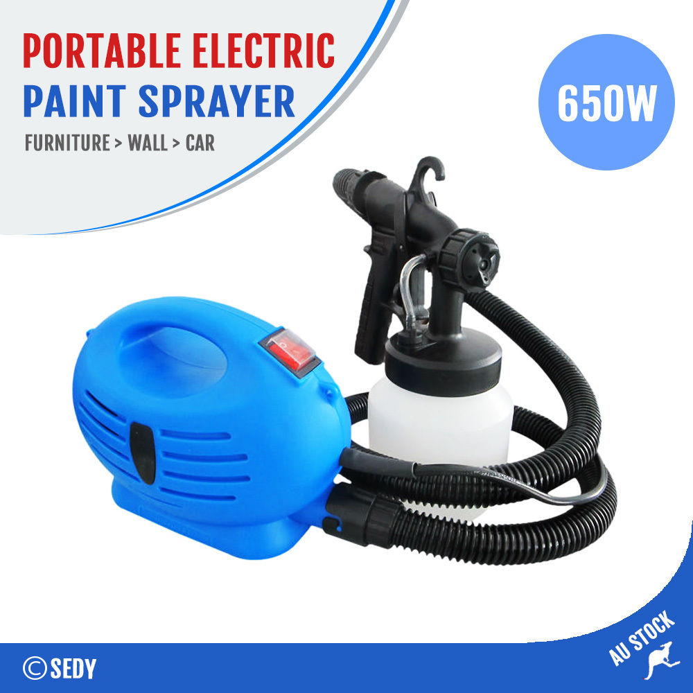 Electric Painter Paint Spray Sprayer Gun Machine HVLP Tool Kit Wall Draw NEW AU hd 2 hvlp devilbiss spray gun gravity feed for all auto paint topcoat and touch up with 600cc plastic paint cup