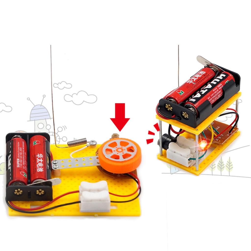DIY Telegraphs Receiver Transmitter Model Toy Physics Science Electrical Circuit Experim ...