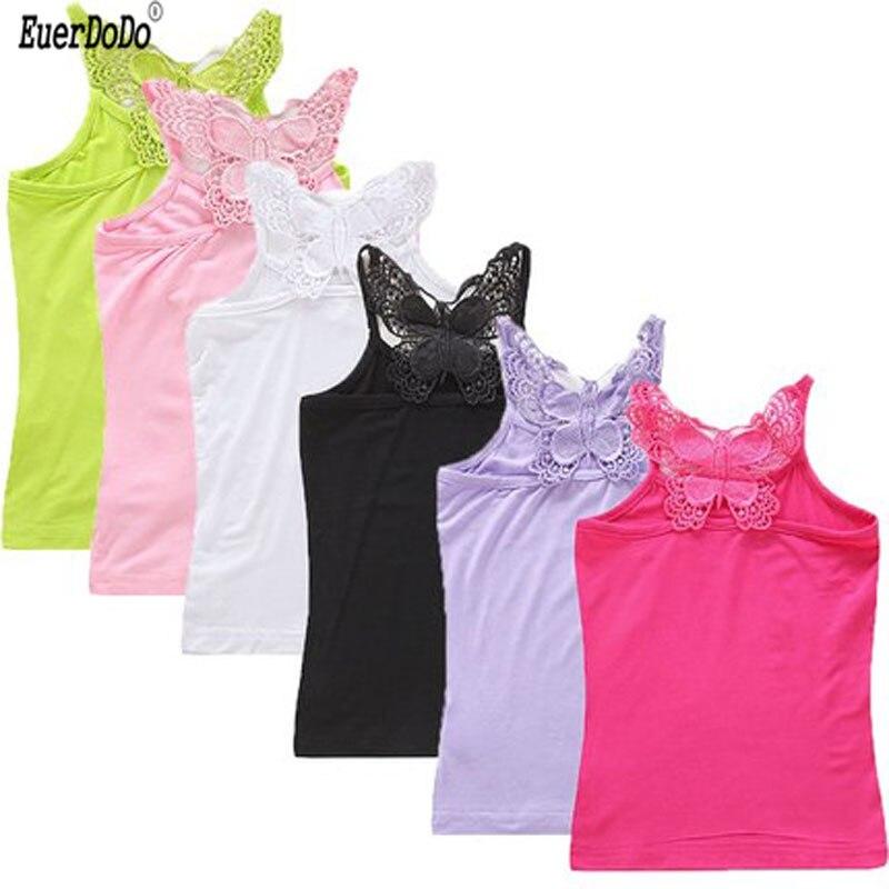 Zomer Kids Ondergoed Vest Model Tops Voor Meisjes Snoep Kleur Meisje Tank Tops Tiener Hemd Baby Hemdje Kleding 6 8 10 Grote Rassen