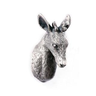 Unique Pewter Deer Head style Dresser Knobs Cabinet Pull Animal drawer Knobs Cupboard Pulls Handle Antique Silver ножницы tiemco deer dresser scissors fluoride black