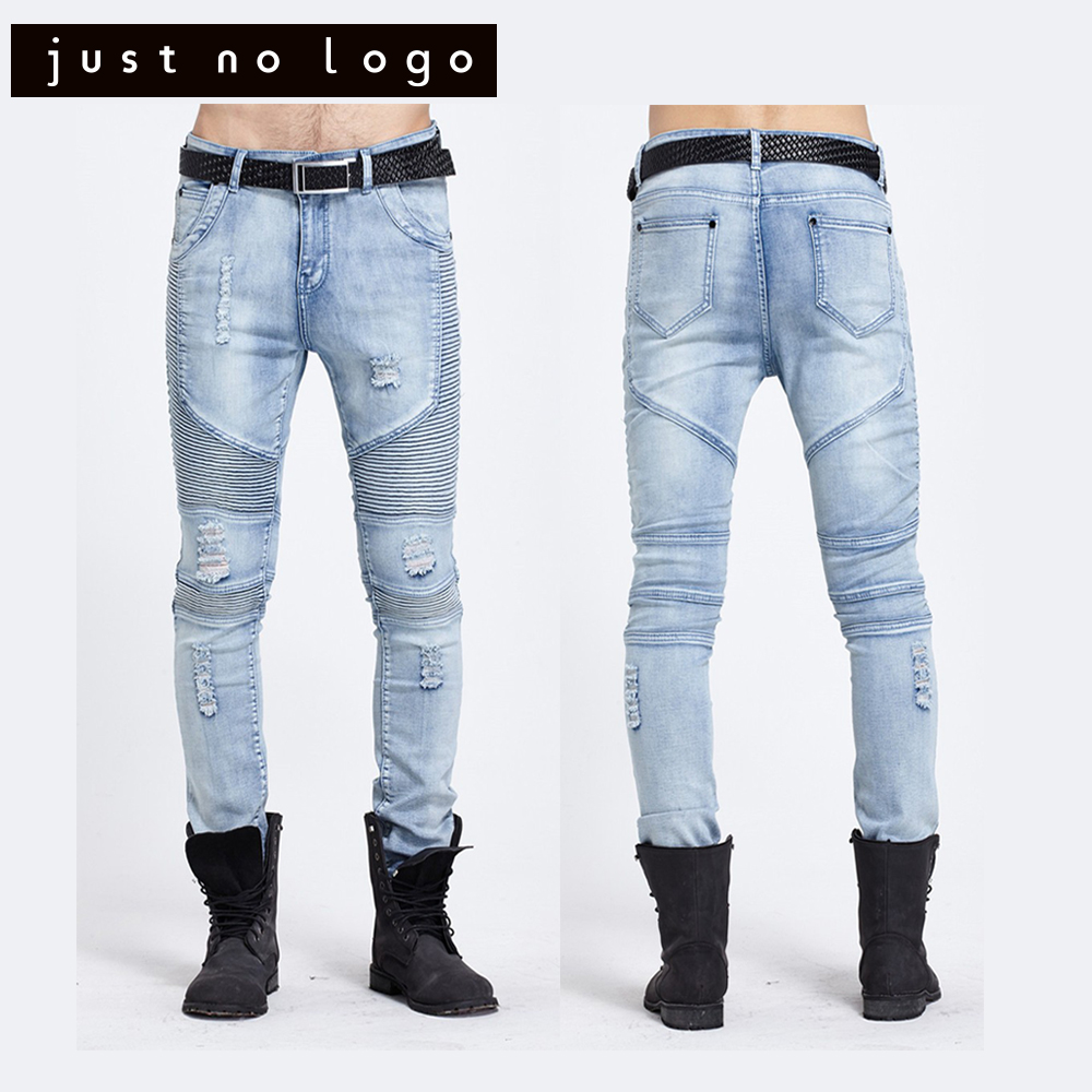 Men/Male Stretch Biker/ Motorcycle Denim Ripped Jeans Designer Fashion Slim Fit Skinny Straight Destroyed Distressed Pants men s cowboy jeans fashion blue jeans pant men plus sizes regular slim fit denim jean pants male high quality brand jeans