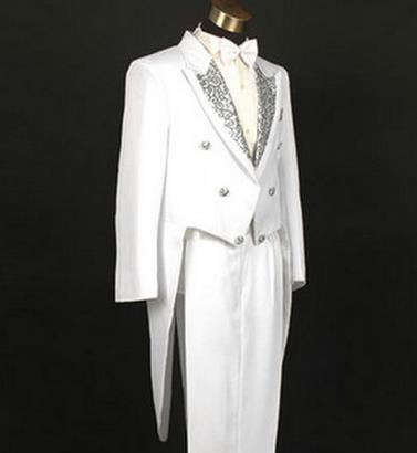 England tuxedos for men White black tuxedo host singer stage magician costume dress costumes command mens suits with pants