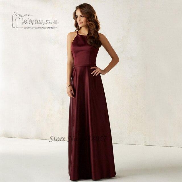 Robe demoiselle d honneur Plus Size Burgundy Bridesmaid Dresses 2017 Satin  China Long Wedding Party Guest Dress for Women Cheap c90ef5911819