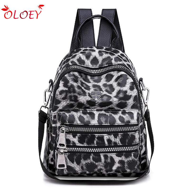 Leopard Pattern Backpack Bag For Women 2018 Fashion School Book Backpack For Teenager Girl Daily Leisure Packbag Travel Backpack