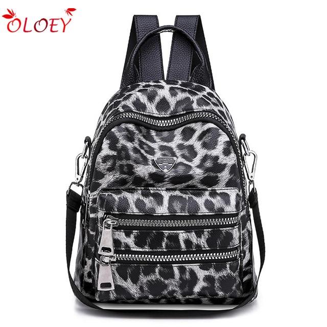 Wzór lamparta plecak torba dla kobiet 2020 Fashion School Book plecak dla nastolatka dziewczyna codzienny wypoczynek plecak podróżny Packbag