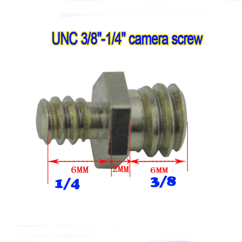 5pcs 1/4Male to 1/4Male Threaded Screw Convert Adapter for Camera Tripod Ballhead Double Male Screw