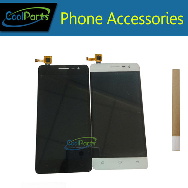1PC/Lot High Quality 5.0'' For Hisense C20 LCD Display Screen+Touch Screen Digitizer Assembly With Tape Black White Color