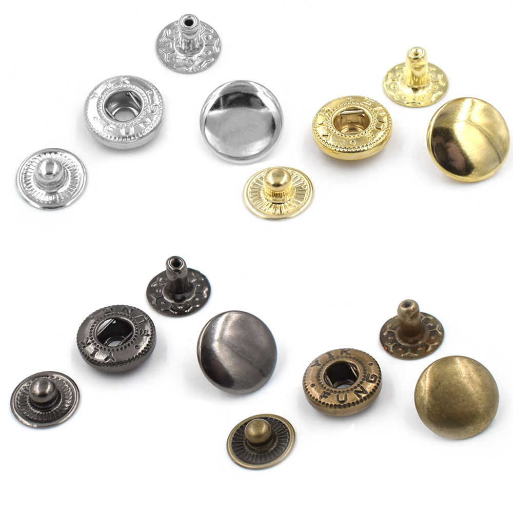 50 sets per pack Button Metal snap rivet Metal buckle combination Clothing Accessories Sewing repair Metal buttons in Buttons from Home Garden