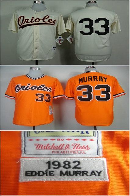 da42739ad04 Retro Baltimore Orioles shirts  33 Eddie Murray M N throwback Jersey 1954  cream 1982 orange all stitched