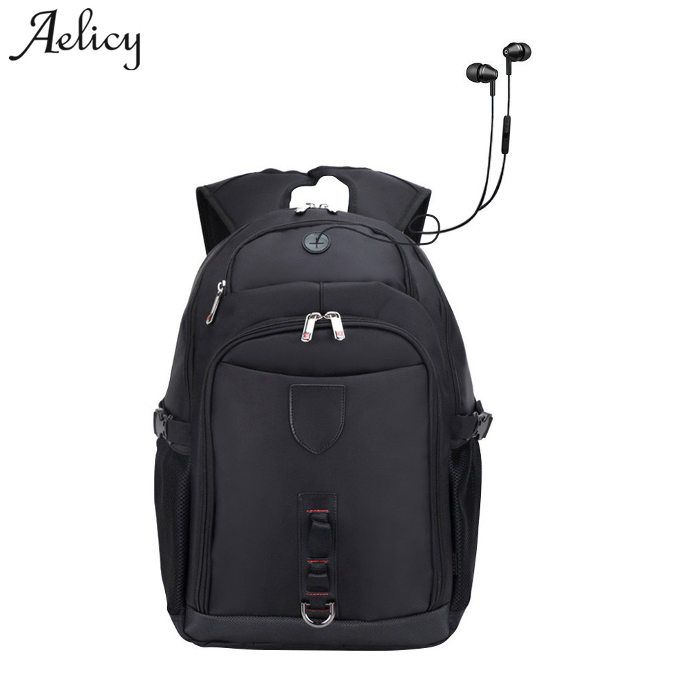 Aelicy Oxford Waterproof Travel Backpack High Quality Anti-theft Backpack With USB Charging Korean Fashion Backpack Schoolbag
