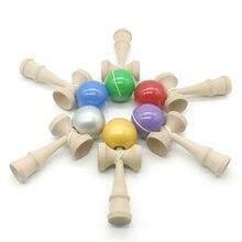 Детская игрушка кендама дерево Kendama умелый мячик для жонглирования деревянные игрушки для детей взрослых 18 см мяч открытый игрушки MD0344H