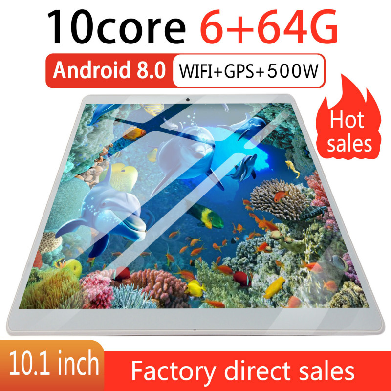 2019 New Tablet 6G+64G Android 8.0 WiFi Tablet PC Dual SIM Dual Camera Rear 5.0MP IPS Bluetooth WiFi  Android Tablet  Russian