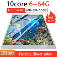 2020 new tablet 6G+64G Android 8.0 WiFi Tablet PC Dual SIM Dual Camera Rear 5.0MP IPS Bluetooth WiFi android tablet Russian