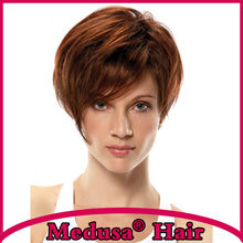 Medusa hair products: Trendy pixie cut styles Synthetic pastel wigs Short straight Mix color wig with bangs Peruca curta SW0193B