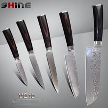 Xyj marke sharp damaskus messer santoku utility schälmesser 5 stücke set japanischen vg10 damaststahl high-end-küche messer
