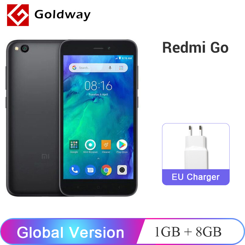Global Version Xiaomi Redmi GO Smartphone 1GB RAM 8GB ROM Snapdragon 425 Quad Core 3000mAh Battery 5.0