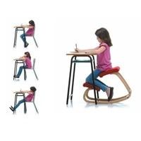 Эргономичный качающийся деревянный стул помогает исправить сидячую осанку и развитие детского позвоночника