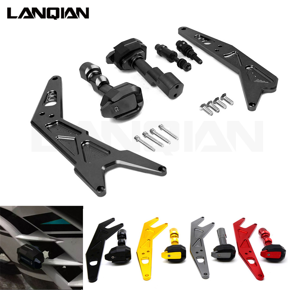 CNC Motorcycle Frame Sliders Crash Engine Guard protection Pad Side Shield Protector For KAWASAKI NINJA300 2013