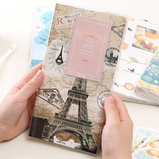 HAZY 84 карманы маленький фотоальбом для хранения фото коллекция для 3 дюймов картина Polaroid Fuji Instax Mini 9/8/70/7 s/50 s/90