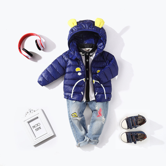 b1b2d39a1206 HYLKIDHUOSE 2018 Winter Baby Boys Girls Coats Hooded Children Jacket ...