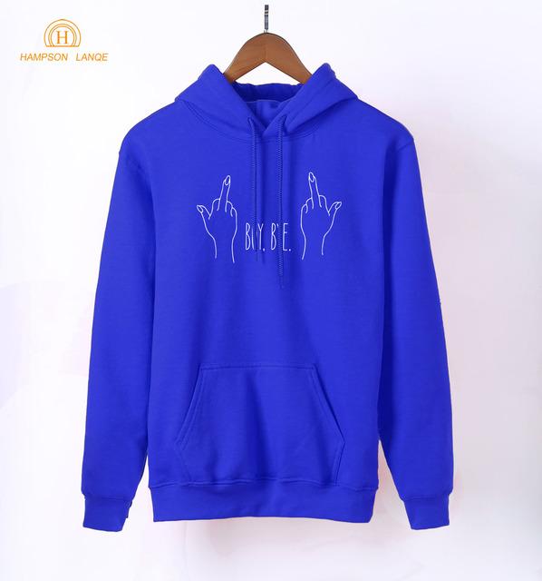 Boy Bye Cool Long Sleeve Hoodie 2018 Spring Autumn Kawaii Sweatshirt Women K-pop Hoodies Warm Fleece Harajuku Tracksuit Women