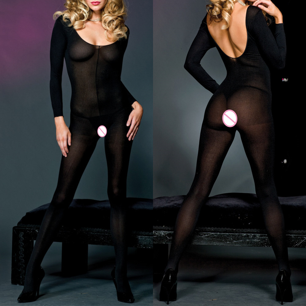 :Sexy Open Crotch Fetish Bodystocking Women Erotic Lingerie Porno Babydoll Crotchless Mesh Teddy Bodysuit Underwear Costumes 03