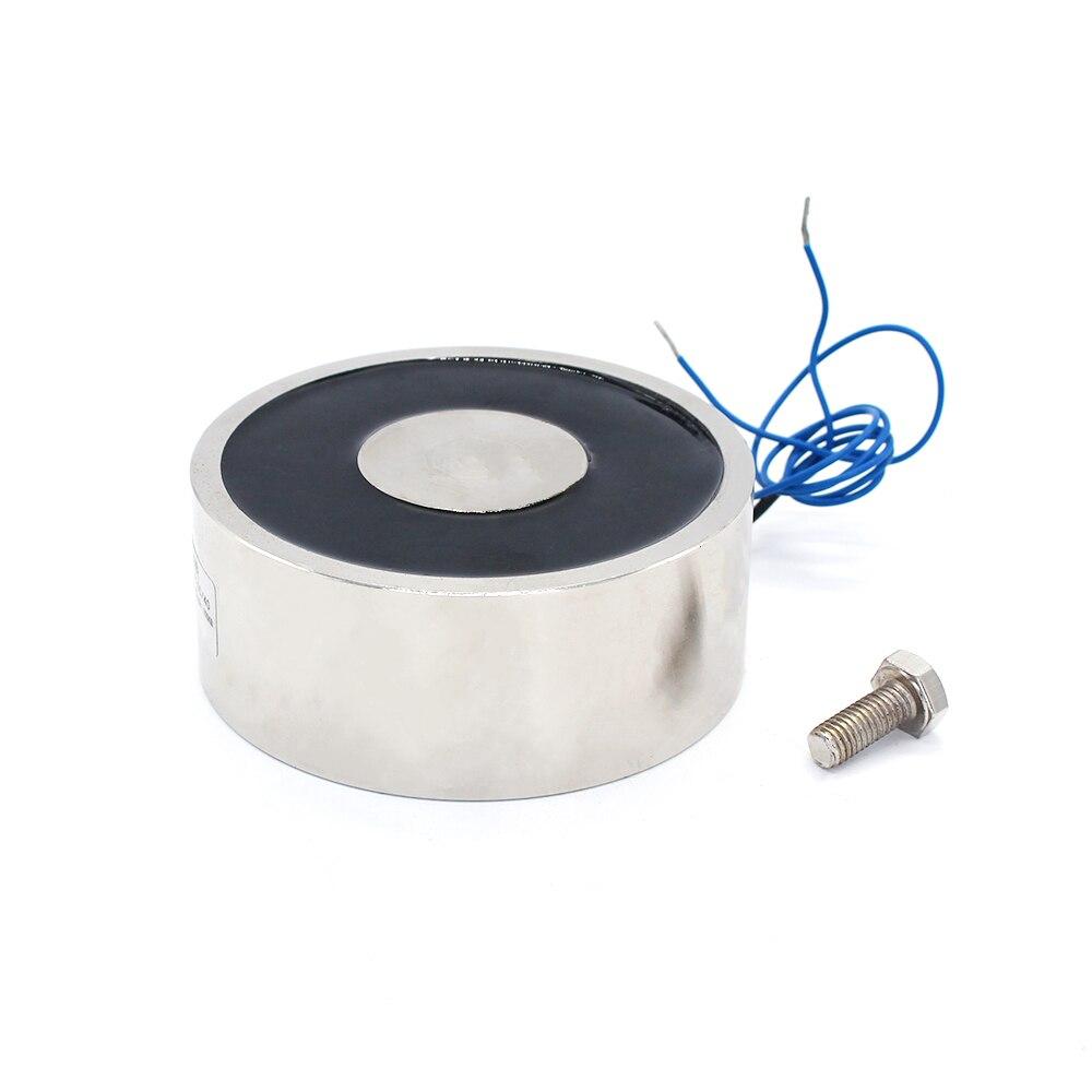 160*50mm Grande Sucção 600 KG DC 5 V/12 V/24 V grande eletroímã solenóide elétrico de Levantamento magnet electro forte titular copo DIY 12 v