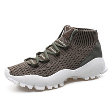 2018 Sneakers Men Autumn and Winter New Style Lightweight Woven Shoes High Ventilation Leisure Zapatillas Hombre 39-44
