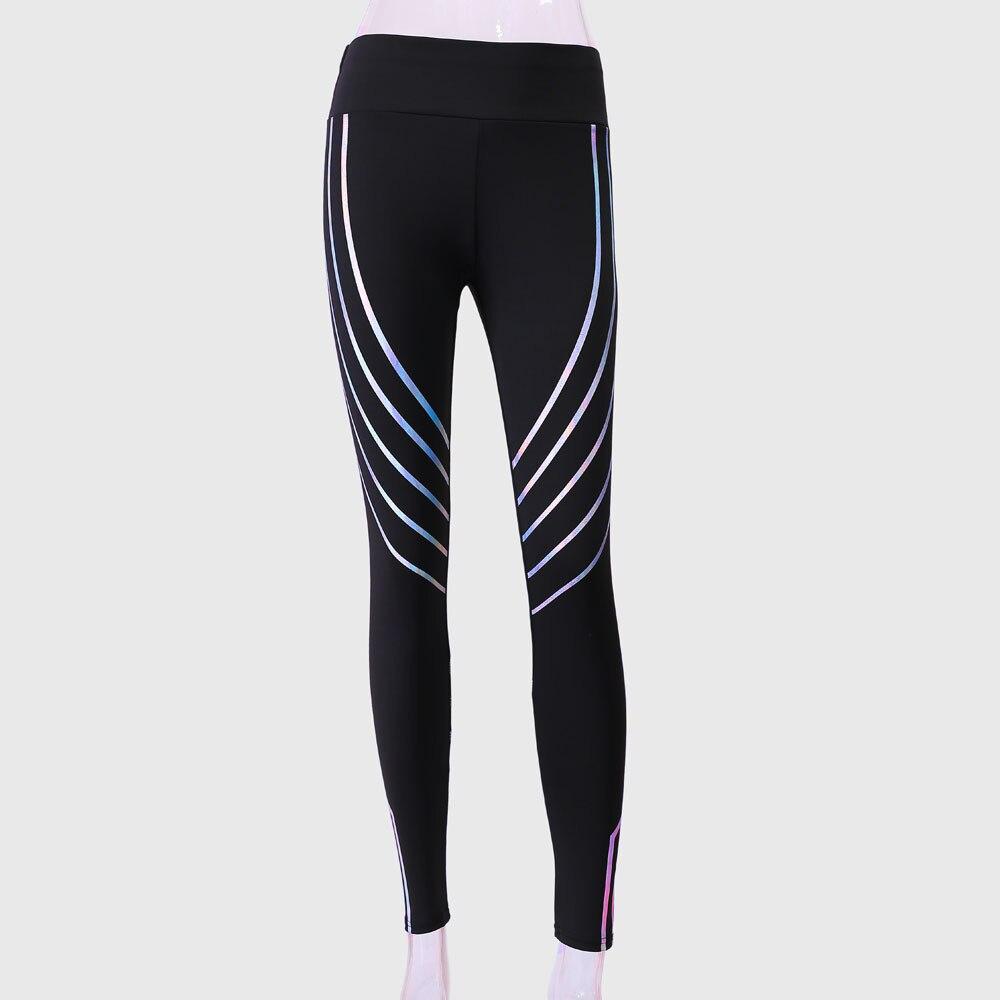 4b3e0799c6c7 Women Yoga Pants Leggings Elbows Fitness Tights Women Waist Yoga Fitness  Leggings Running Gym Stretch Sports Pants Trousers-in Yoga Pants from Sports  ...