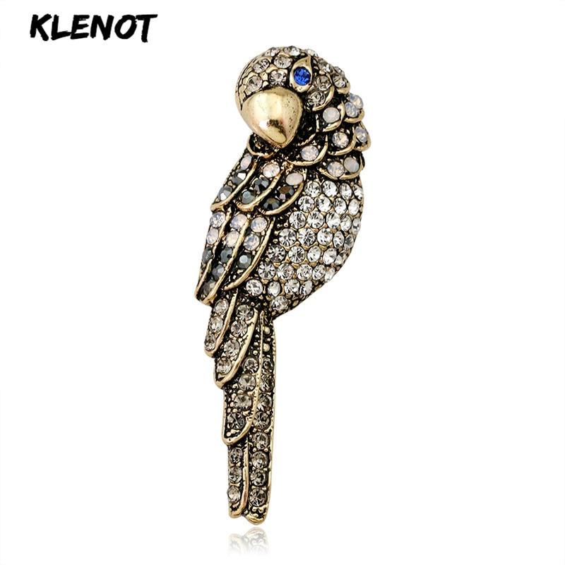 Colorful Animal Retro Transfer Chest Pin Acrylic Bird Brooch Heat Gifts LI