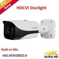 New Dahua 4K Starlight HDCVI Camera Smart IR Dome Camera Video Resolution 8MP Built in Mic IP67 Coaxial Camera HAC HFW2802E A