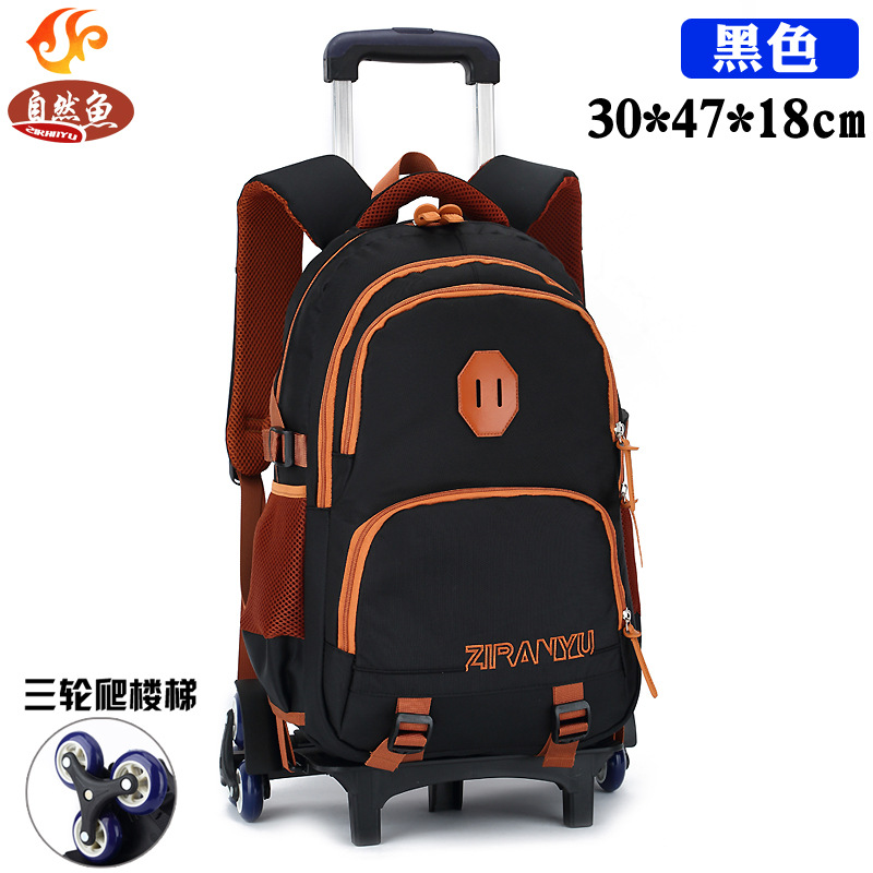 Children School Bags with 3 Wheels Removable Kids Child Climb Stair Trolley School Bag Boys Girls Rolling Backpack kids Bookbag children trolley school bags removable backpack waterproof travel luggage bag with 6 wheels rolling for girls can climb stairs
