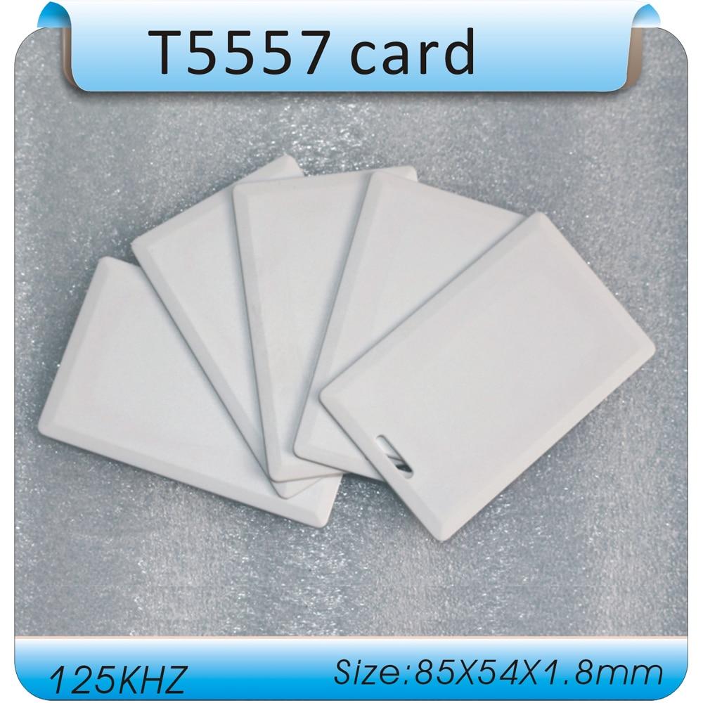 (50 шт./лот) 125 кГц RFID перезаписываемый смарт-карты раскладушка T5557 Толстая близость для Управление доступом H ID Копиры