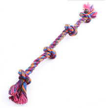 цена Free Shipping 1 piece Dog rope toys grind tooth toys cotton rope material harmless tooth cleaning toys 4pairs ball онлайн в 2017 году