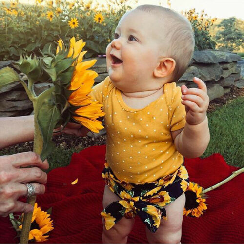 PUDCOCO Set Pant Romper Outfit Top Floral Baby-Girl Infant Support 2pcs Jumpsuit Kids