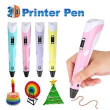 Centechia 3d ручка Новый Magic 3d принтер рисунок пером 3D ручка с 3 вида цветов ABS нити 3D печати 3d ручки для детей подарок на день рождения