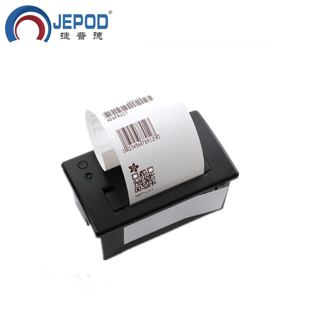 JP QR701 JEPOD Free shipping mini thermal printer RS232 TTL panel printer thermal receipt printer