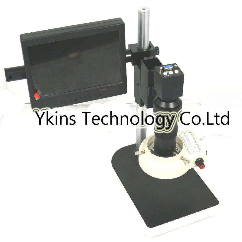 NOUVEAU 2MP 1080 P Efficace Pixels VGA sorties L'industrie Microscope Caméra + 130X C-monture avec 7 pouce moniteur écran