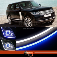 2x 60cm DRL Flexible LED Tube Strip Style Car Headlight Light Blue White Switchback For Range