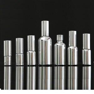 Image 5 - 5ML 30ML 100ML Silber Glas Ätherisches Öl Dropper Flasche Kosmetische Verpackung Serum Lotion Pumpe Spray Zerstäuber Fläschchen 15 stücke