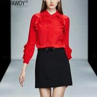 Весенняя мода женские блузки 2019 Винтаж офисные корейский шелк блузка для женщин топы корректирующие элегантная белая рубашка Camisas Mujer
