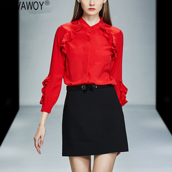 Lente Mode Vrouw Blouses 2019 Vintage Kantoor Koreaanse Zijde Blouse Vrouwen Tops Elegante Witte Shirt Camisas Mujer EGBR19C1008