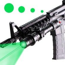 Тактический зеленый лазер фонарь-лазер пятно Размеры Регулируемая Охота Ar15 M16 Пикатинни лазерный указатель осветитель прицел