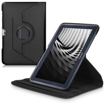 Flip PU Leather Cover Case For Samsung Galaxy Note 10.1inch 2012 vision N8000 N8013 N8010 N8005 Tablet 360 Degree Rotating Case
