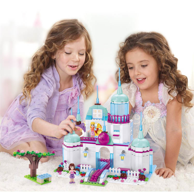 Girl Princess Castle Building Villa Friends Series Cute Dolls Intelligence Blocks Compatible Legoings Toy For Kids Birthday Gift wl mini blocks captain america animal fruit intelligence model building nanoblock diy cute party supplies toy