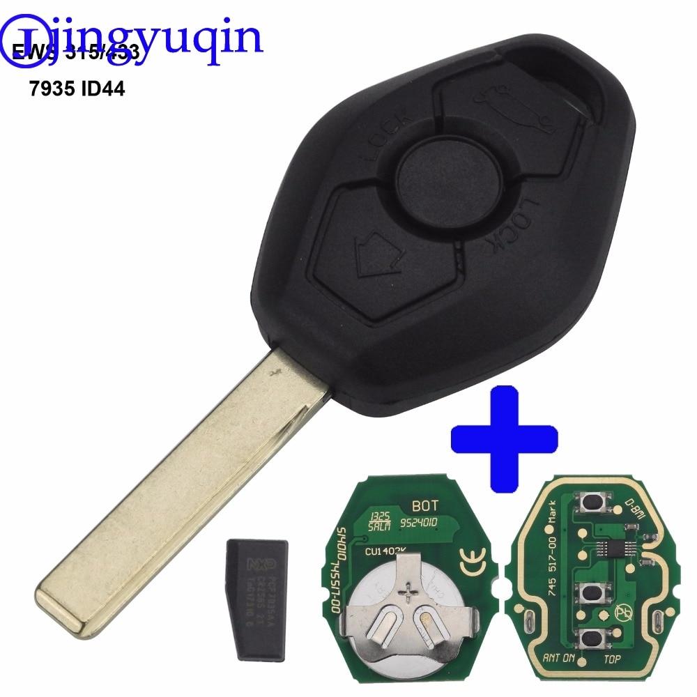 jingyuqin EWS ASK 315/433Mhz 7935 ID44 Remote Key Case Shell For BMW EWS X3 X5 Z3 Z4 1/3/5/7 Series Keyless Entry Transmitter