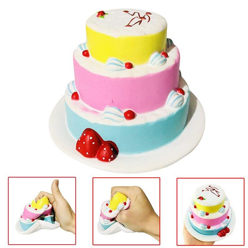 Squishy торт ко дню рождения Ароматические замедлить рост коллекция Squeeze снятие стресса игрушка для детей и взрослых внимание сотовый телефон ... ...