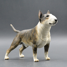 Bull Terrier Model Ornaments Resin Crafts Simulation Gift Car Dog Home Decorative
